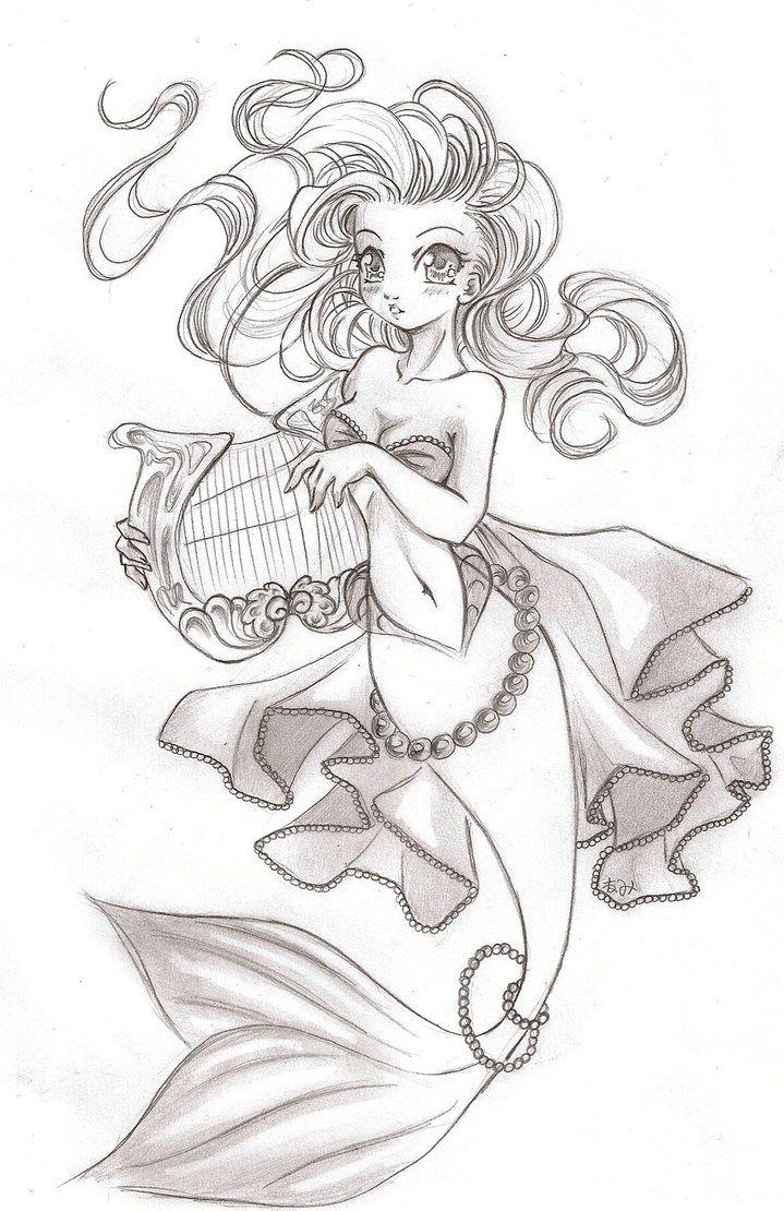 719x1110 Pin By Cindy T. On Mermaids Mermaid, Drawings