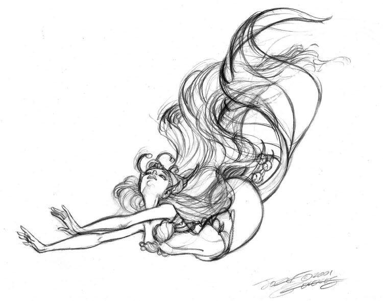 750x590 Beautiful Mermaid Sketch Fairy Taleimaginationpin Ups