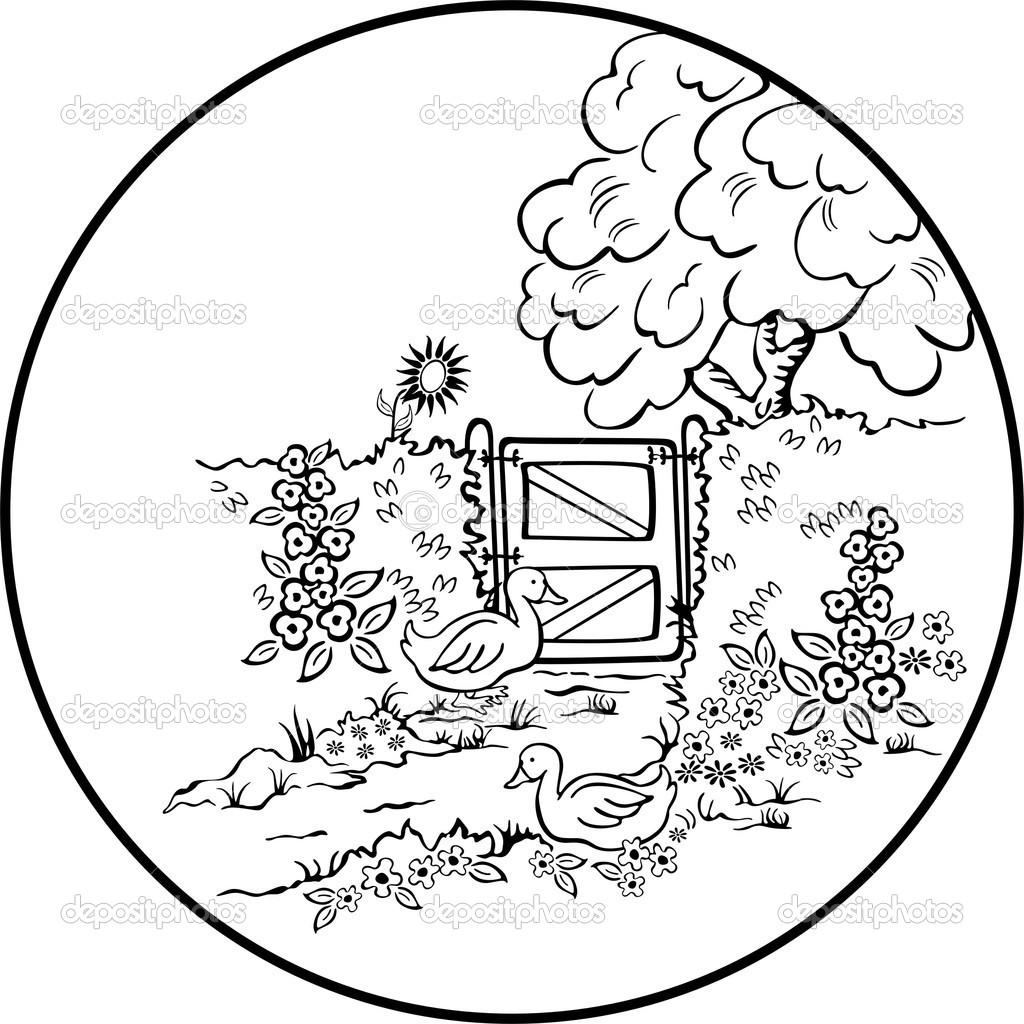 1024x1024 Scenic Coloring Pages Beautiful Scenery Colouring Pages