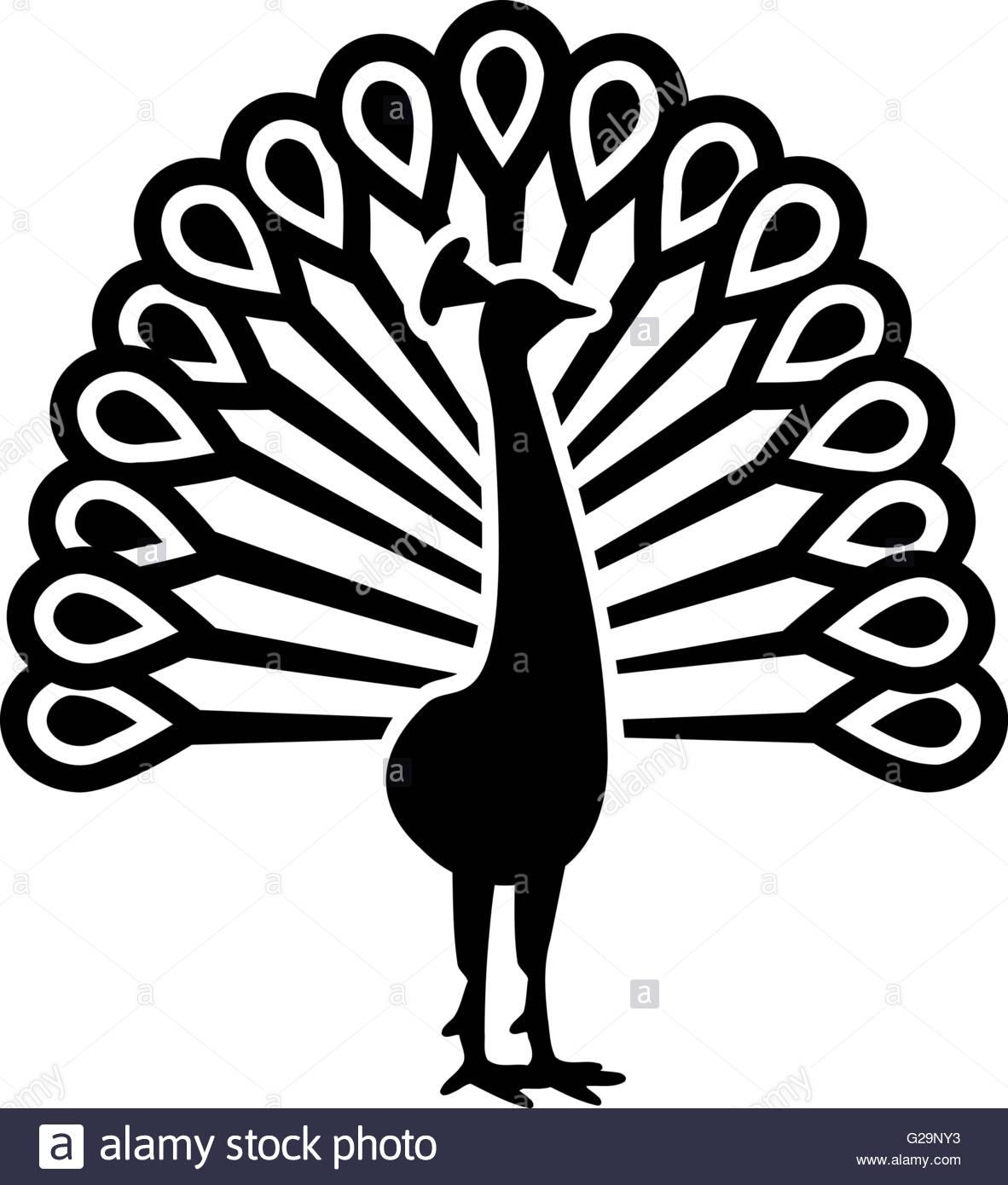 1182x1390 Beautiful Peacock Symbol Stock Vector Art Amp Illustration, Vector