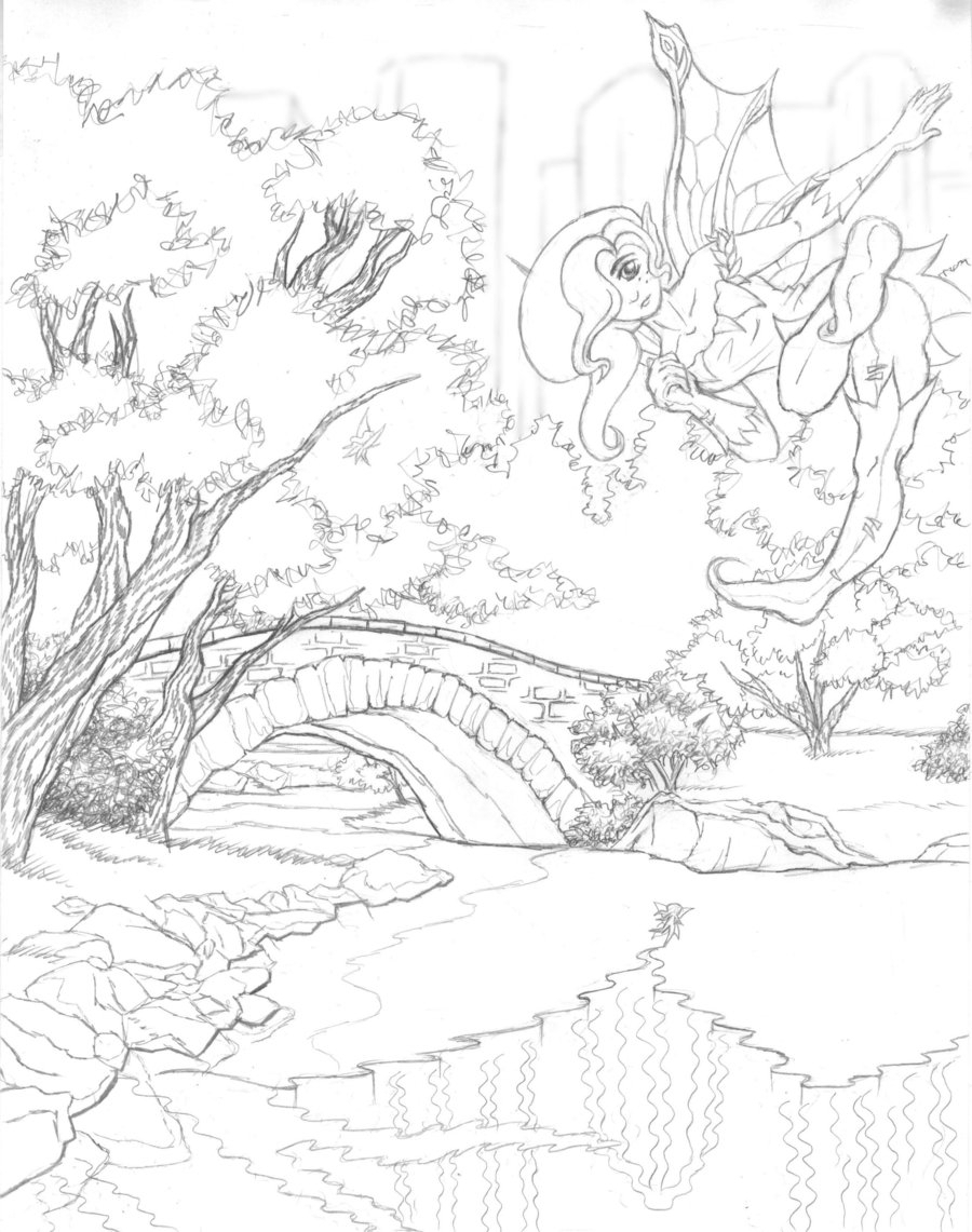 900x1141 Scenery Without Colour Scenery Without Colour Scenic Coloring