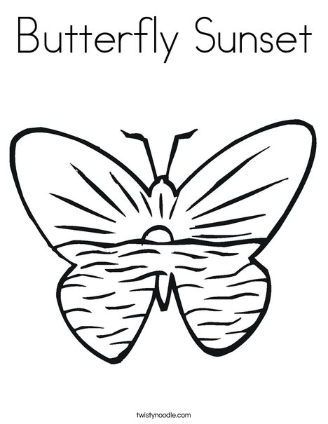 468x605 Butterfly Sunset Coloring Page