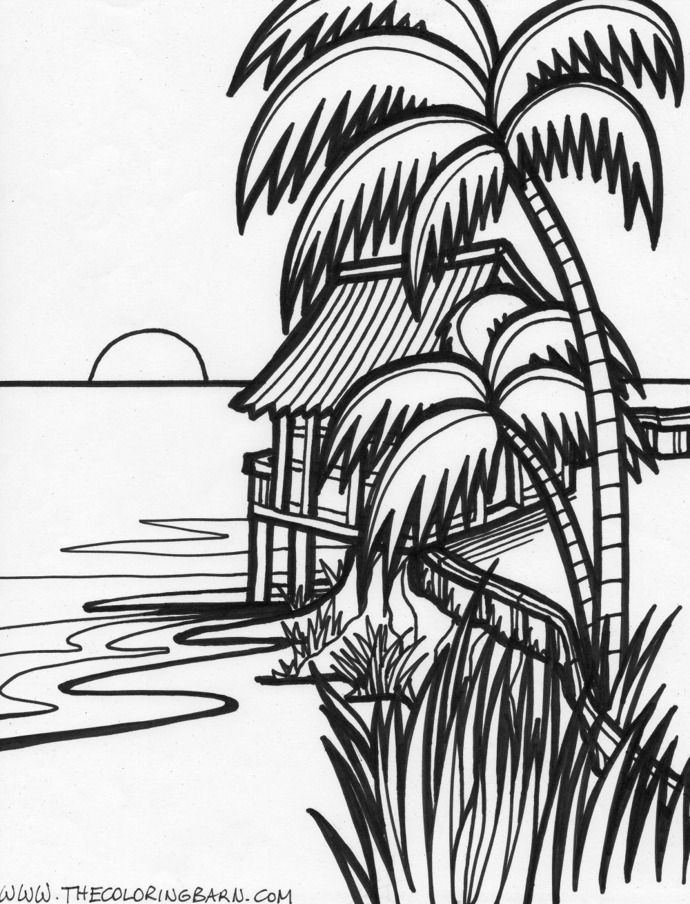 1000x1310 Sunset Coloring Pages