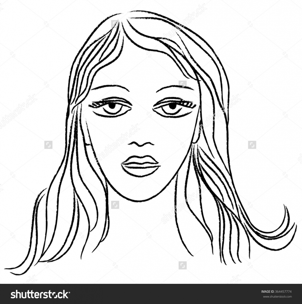 1019x1024 Beautiful Real Face Sketch Young Woman Face Beautiful Face Sketch