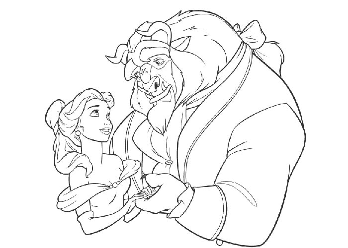 700x500 Coloring Pages Beauty And The Beast
