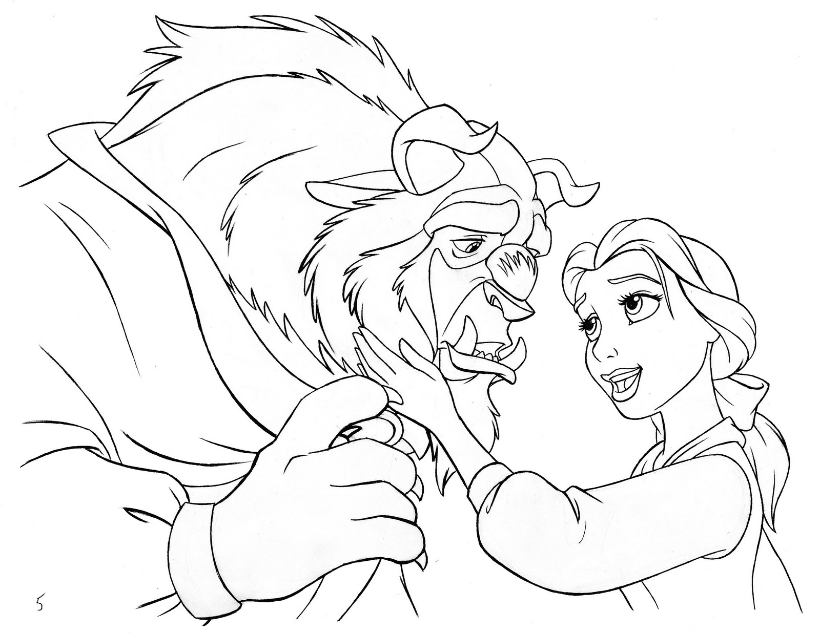 1600x1236 Disney Beauty And The Beast Coloring Page Beauty And The Beast