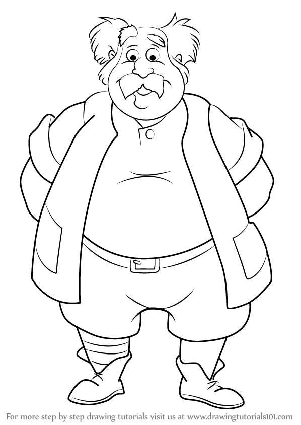 598x844 How To Draw Maurice From Beauty And The Beast