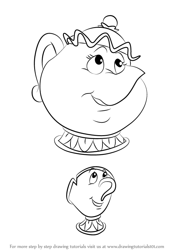 596x843 Learn How To Draw Chip Potts From Beauty The Beast (Beauty
