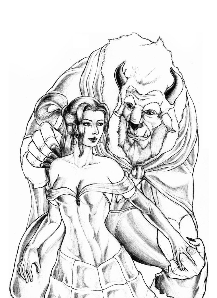 763x1046 Beauty And The Beast By Rossowinch