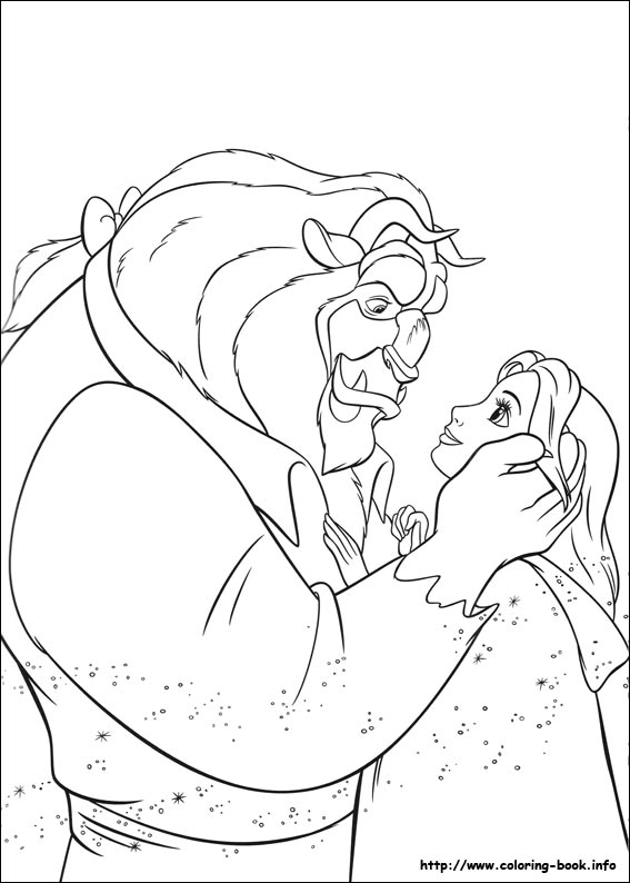 567x794 Beauty And The Beast Coloring Pages On Coloring