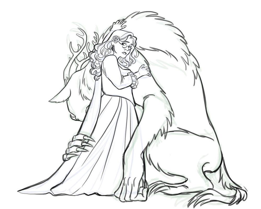 999x799 Beauty With Her Beast By Iesnoth