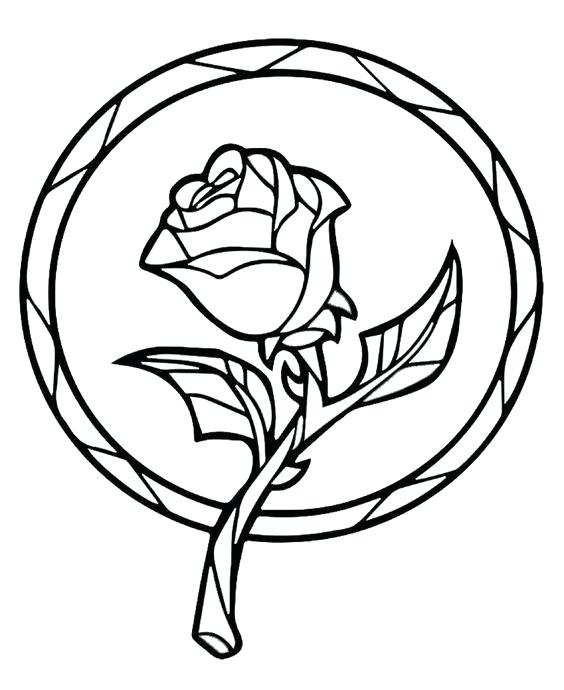 564x690 Beauty And The Beast Stained Glass Coloring Book Together