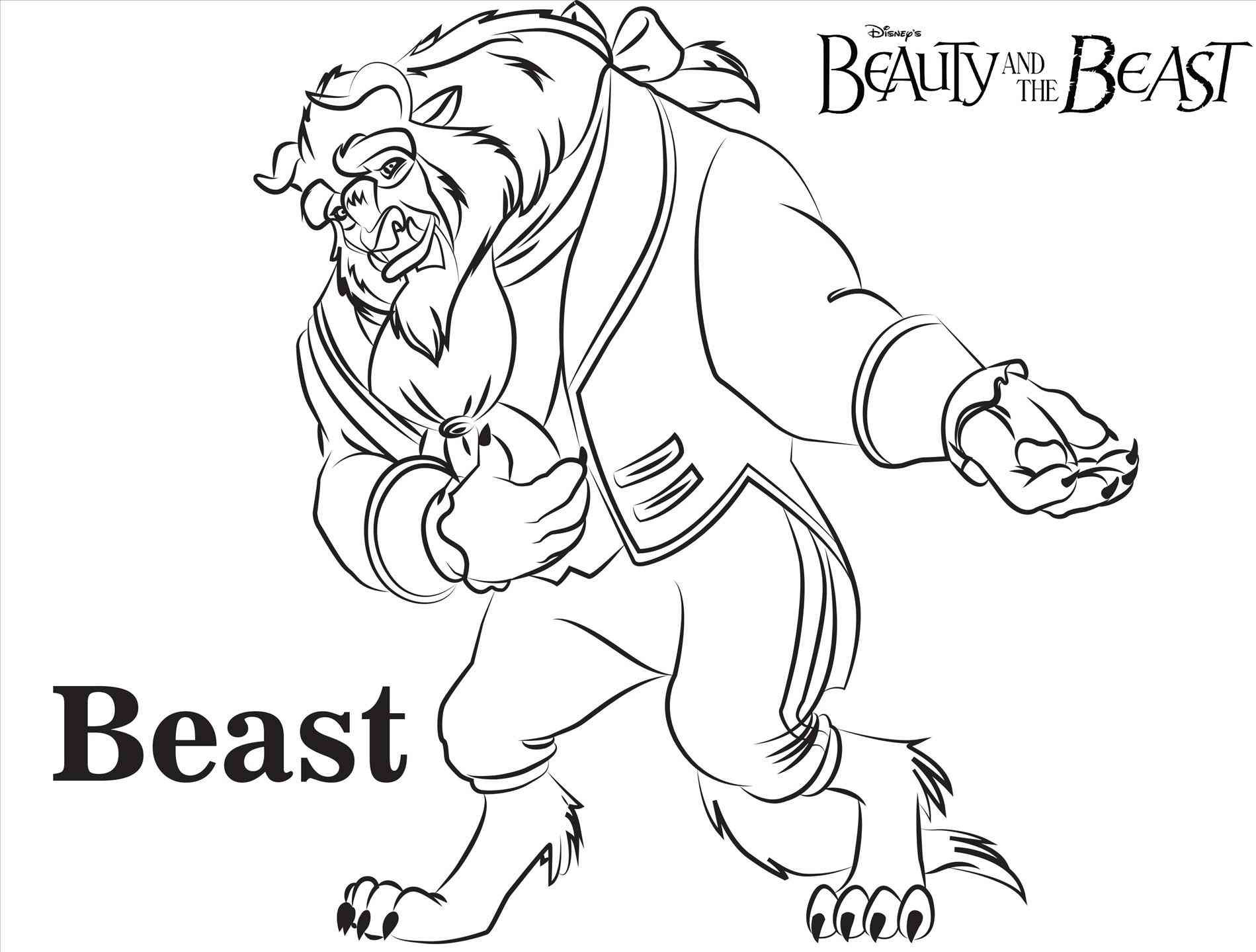1899x1439 Beauty And The Beast Coloring Page Free Draw To Color