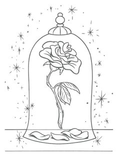 236x317 Beauty And The Beast Drawings Beauty And The Beast Rose By