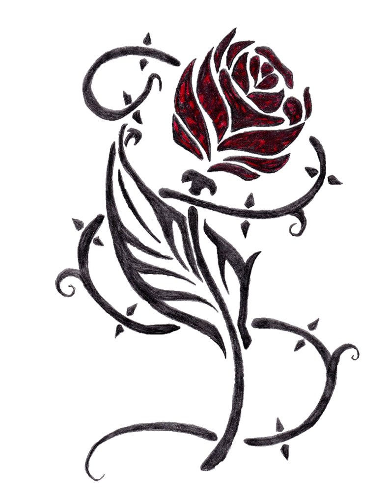 792x1010 Rose Design By Elim18 I Love Beauty And The Beast