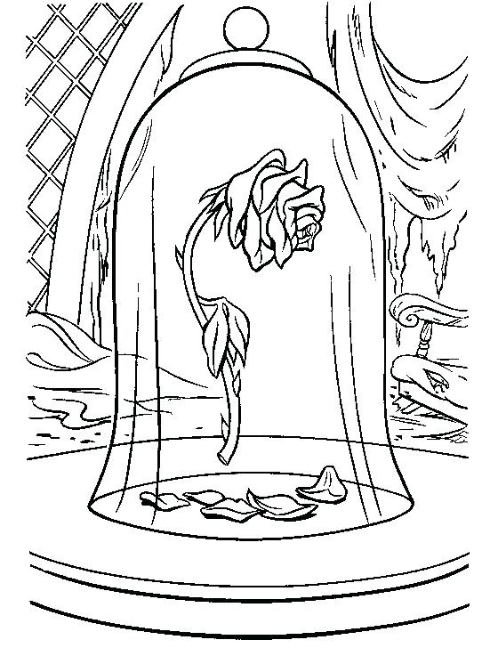 Enchanted Rose Drawing: Beauty And The Beast Rose Drawing At GetDrawings