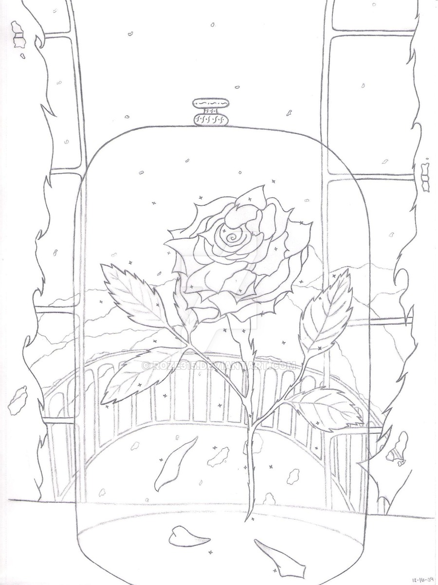900x1202 Rose From Beauty And The Beast By Roze315