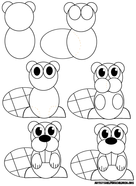 Beaver Cartoon Drawing At Getdrawings Com Free For Personal Use