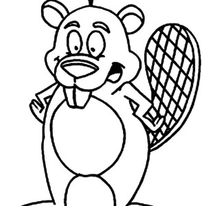 300x300 Drawing Beaver Coloring Page Coloring Sun