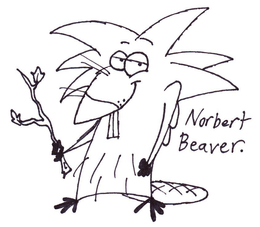 846x738 Norbert Beaver Sketch By Professordoom