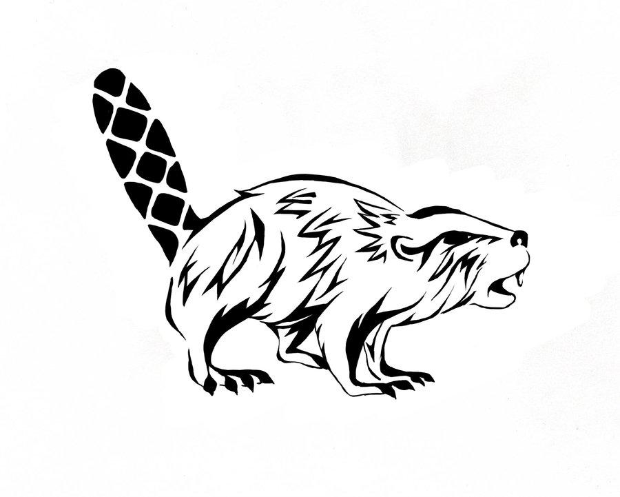 900x721 Woodbadge Critter Beaver By Jan Di