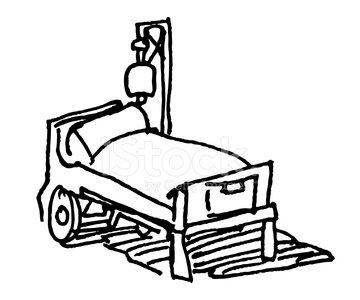 360x300 Hospital Bed Sketch Stock Vectors
