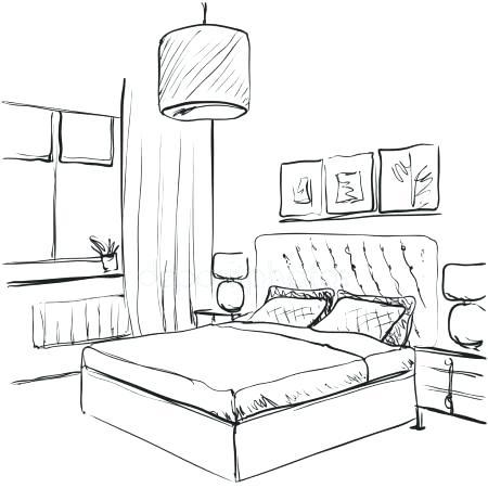 450x450 Sketch Bedroom Drawing Ideas Interior Bedroom Interior Design