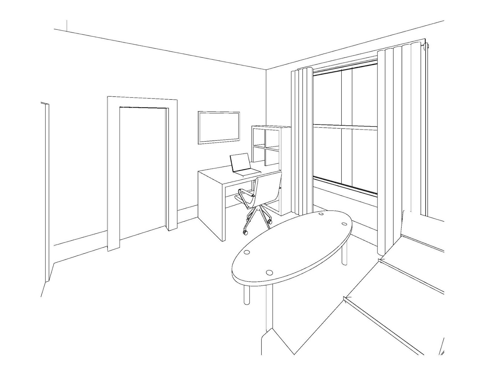 Bedroom Drawing At Free For Personal Use How To Draw A Wiring Diagram 1600x1237 Room Guitar Speaker Diagrams Uml