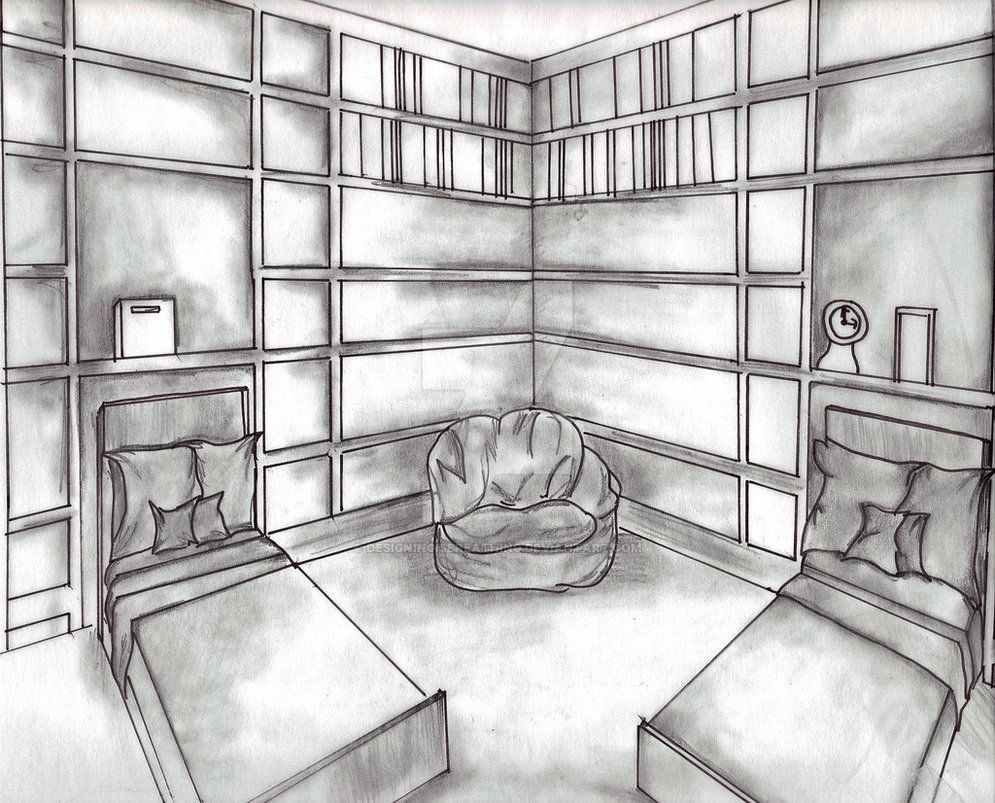 995x803 How To Draw Bedroom For Kids Coloring Pages Drawing And Learn