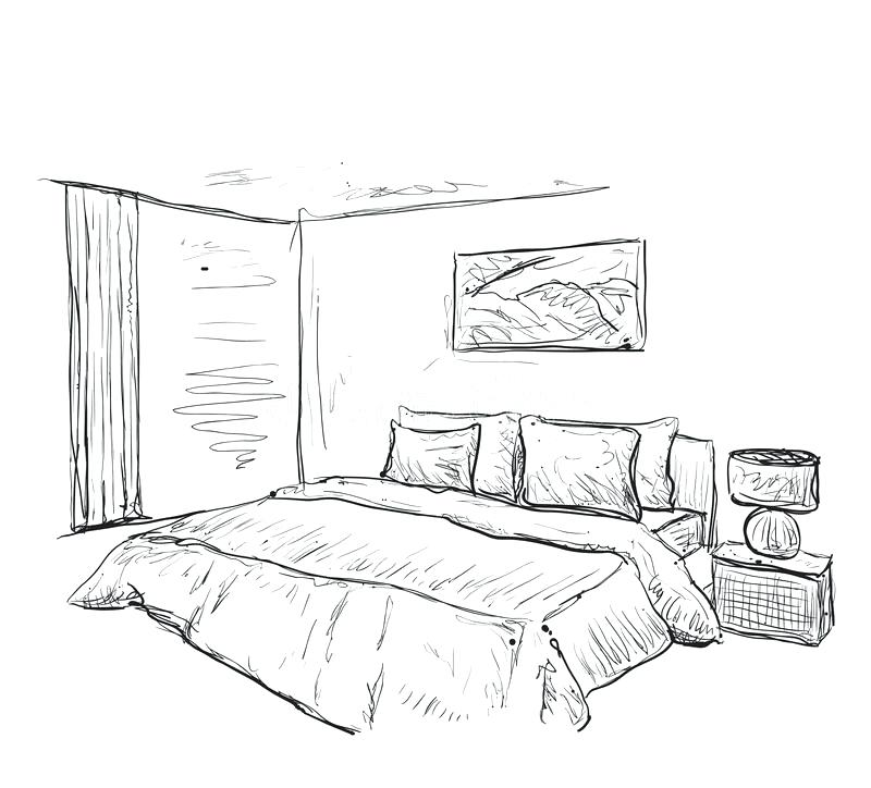 Bedroom Perspective: Bedroom Perspective Drawing At GetDrawings.com