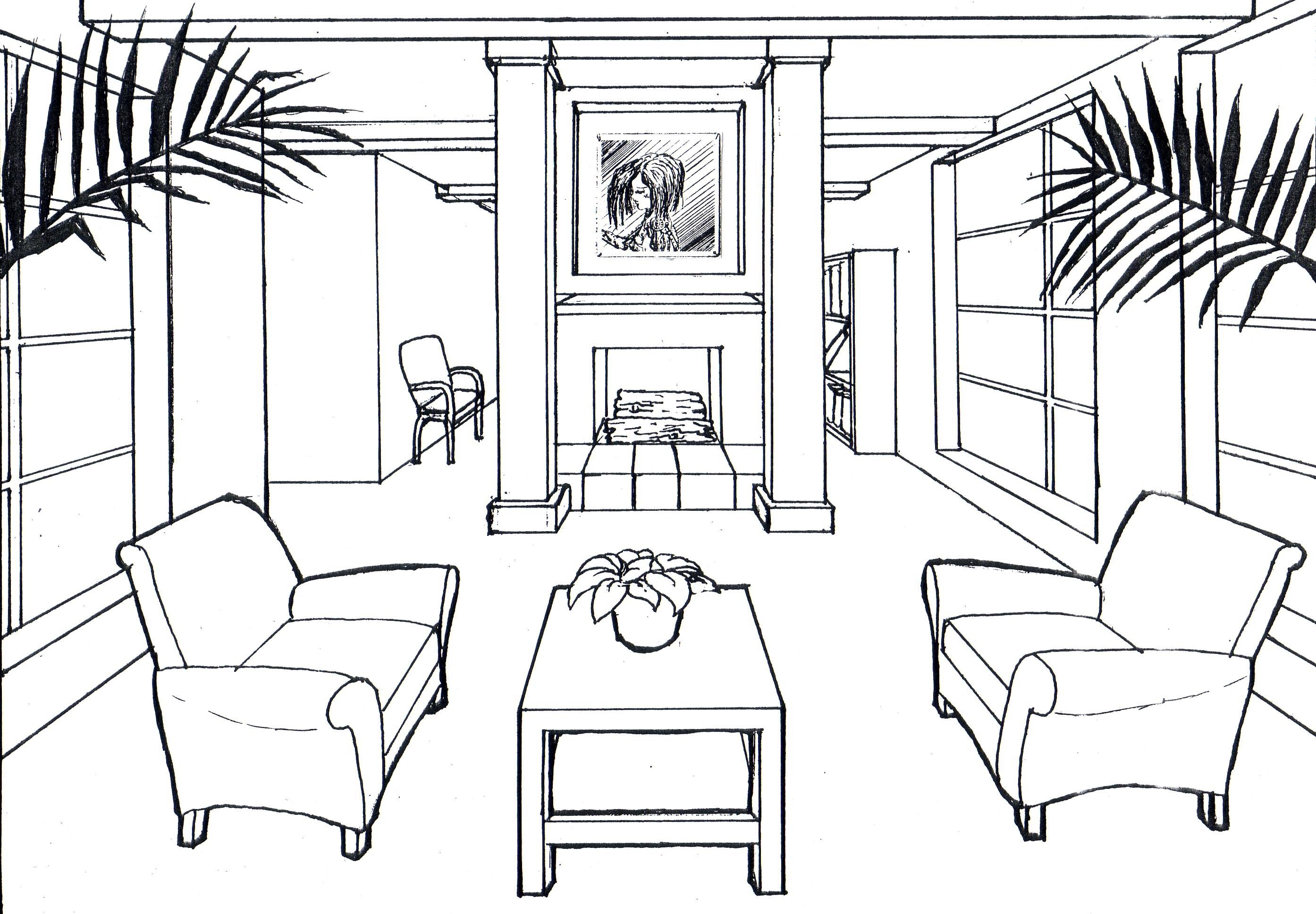 2788x1936 One Point Perspective Sofa