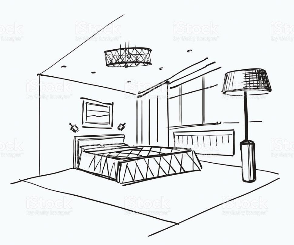 970x809 Bedroom Charming Bedroom Sketch Photo Ideas Drawing Designs