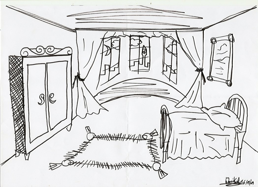 1048x762 Fair Kids Bedroom Drawing Design Ideas Of How To Draw