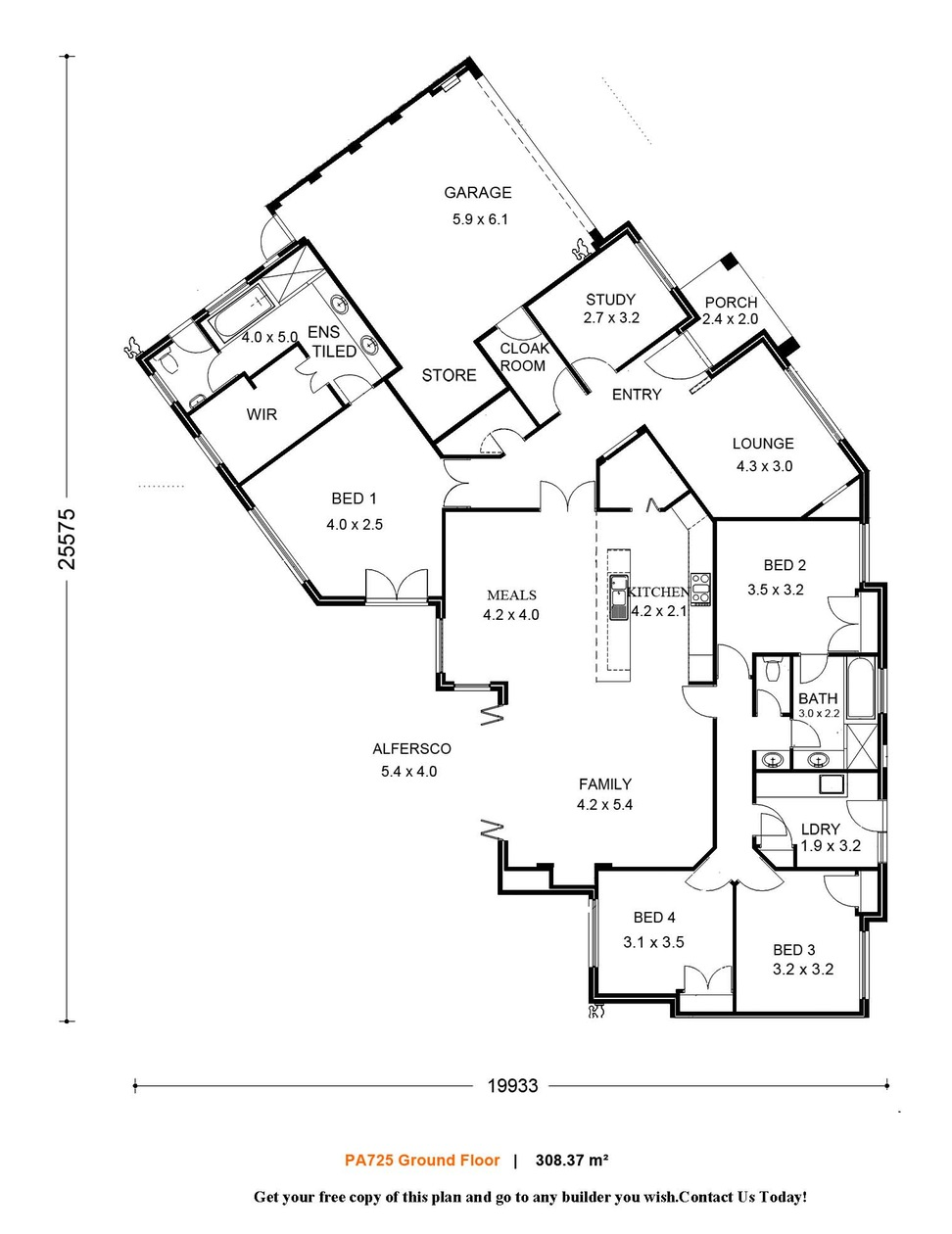 972x1260 One Bedroom House Plans And Designs Waplag Awesome Single Level