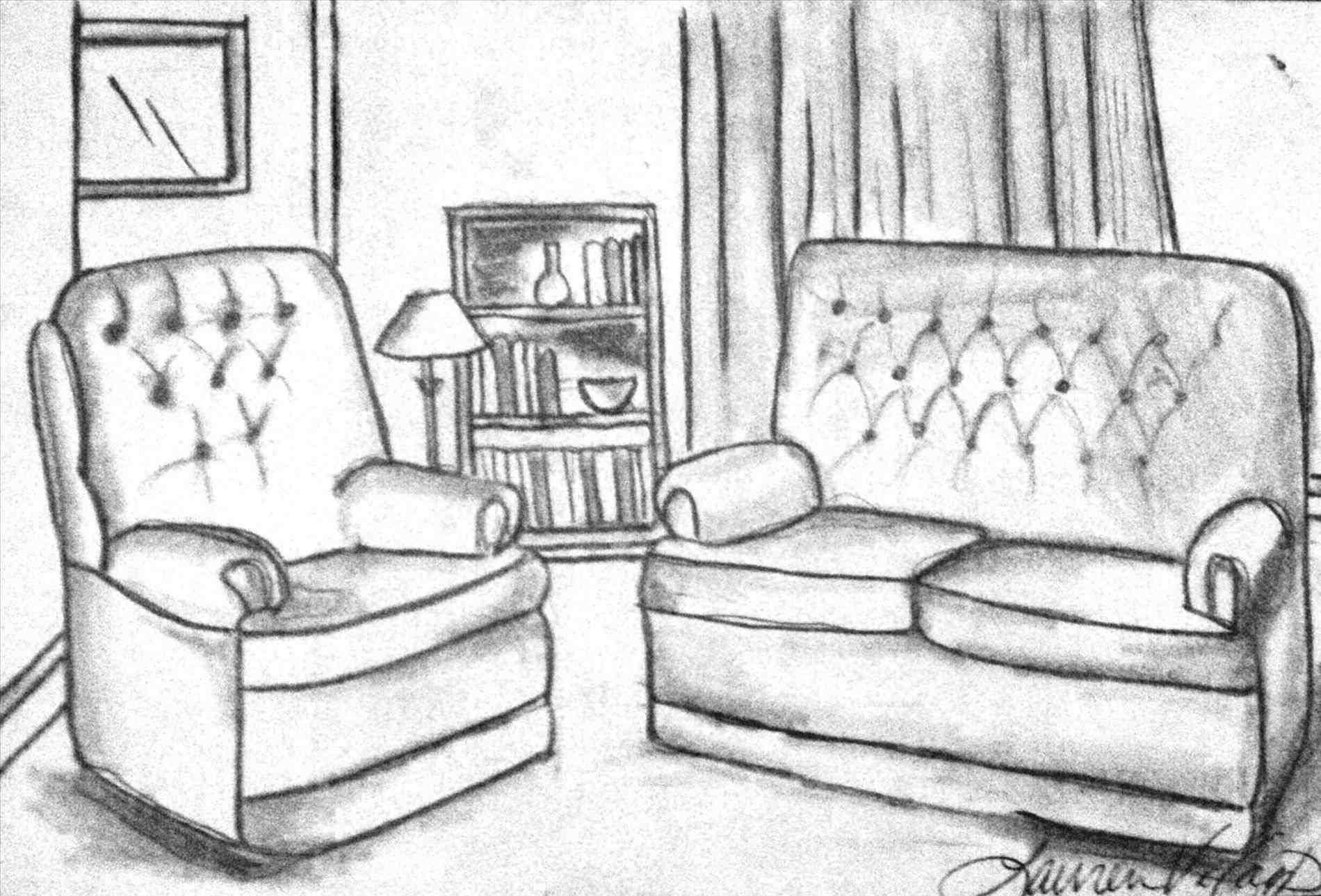 1900x1289 Simple Bedroom Sketch