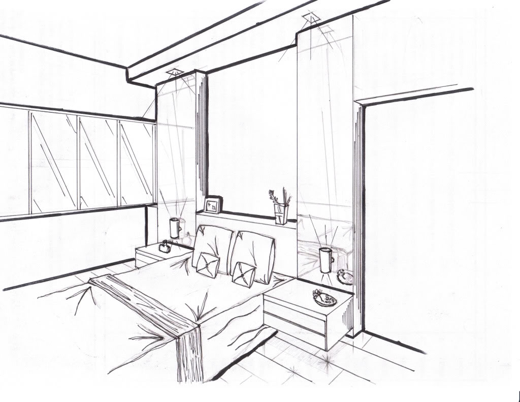 1024x791 3d Bedroom Drawing (Photos And Video)