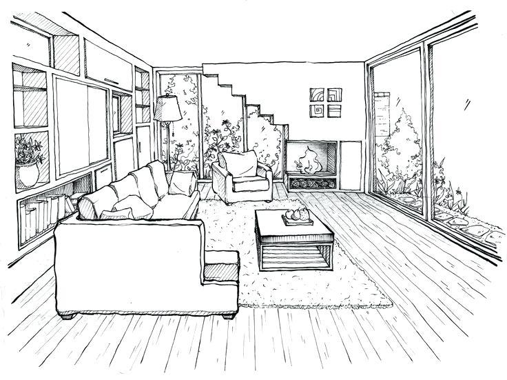 736x551 Bedroom Drawing Easy Betweenthepages.club