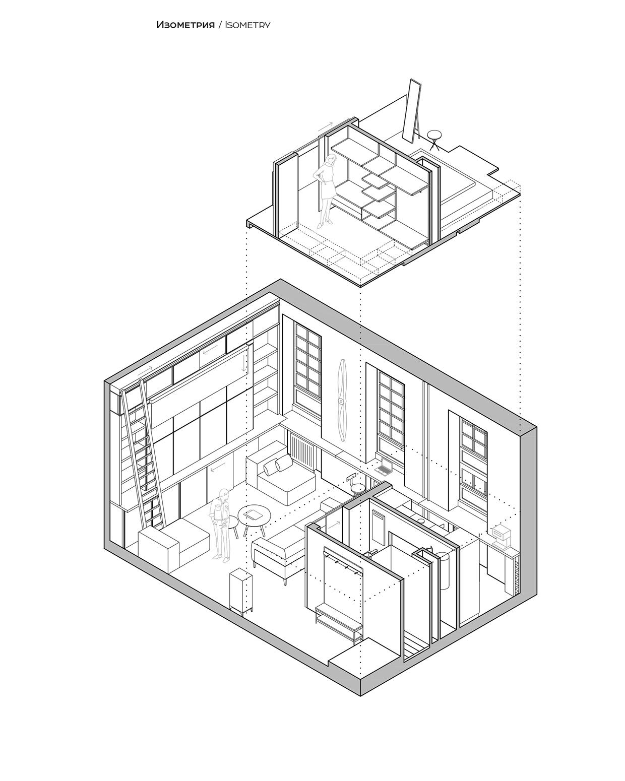 1240x1550 Loft Bedroom Layout Interior Design Ideas.