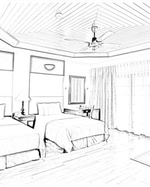 300x372 Beautiful Room Hand Skecth And Drawing. Bedroom. Kahode Home