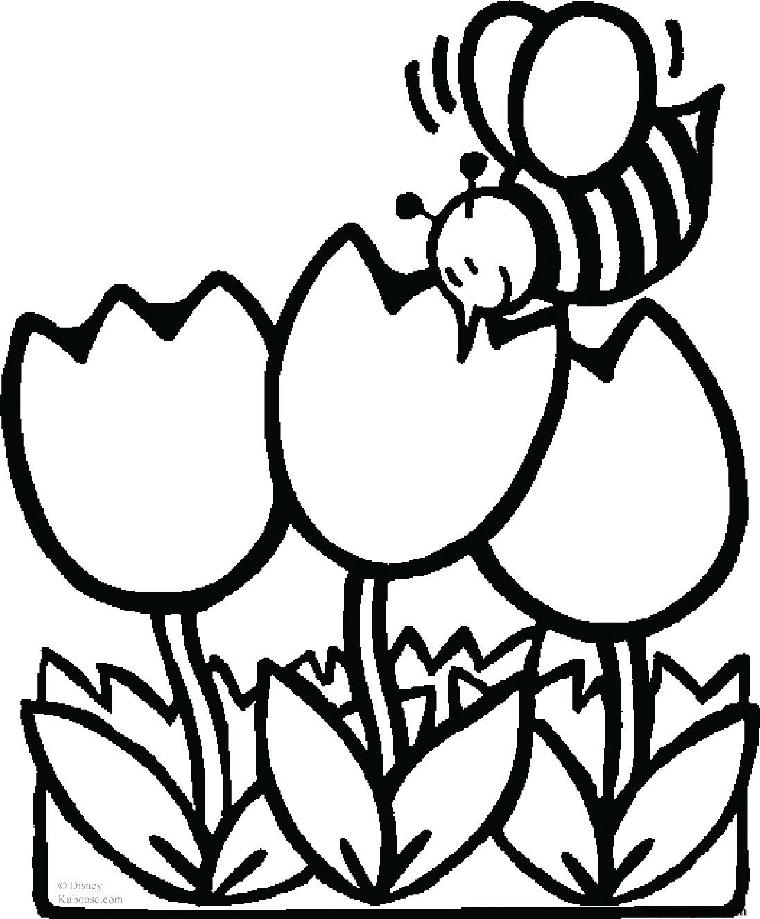 Bee And Flower Drawing at GetDrawings.com | Free for personal use ...
