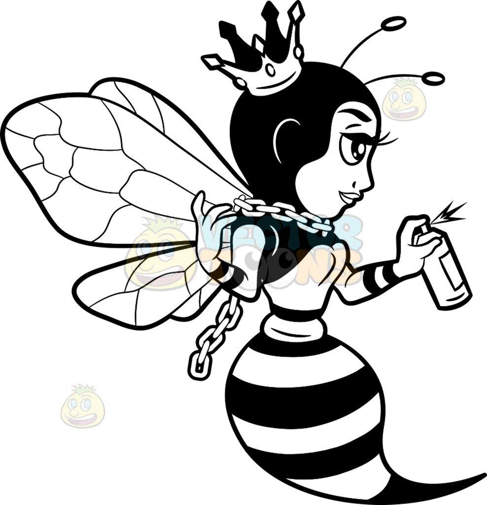 Bee Cartoon Drawing
