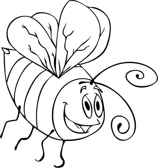 Bee Drawing Cartoon