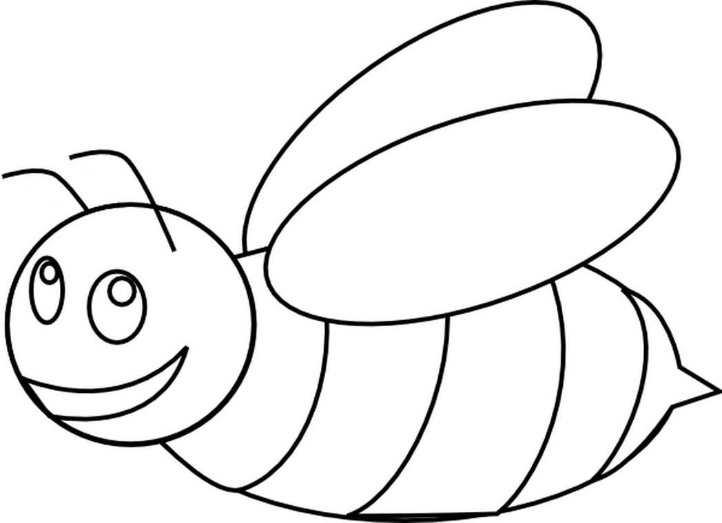 1048x760 Coloring Pages Cute Draw A Bee For Toddlers
