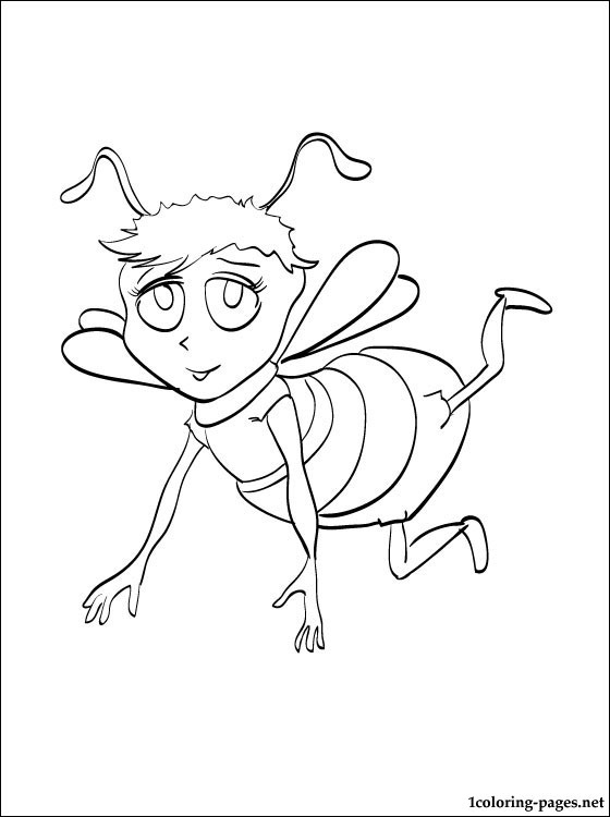560x750 Bee Movie Coloring Drawing Pages