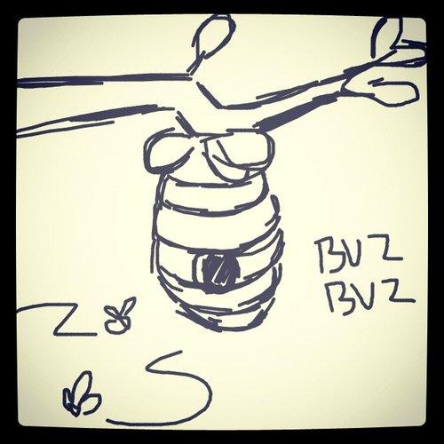 500x500 Beehive Drawings