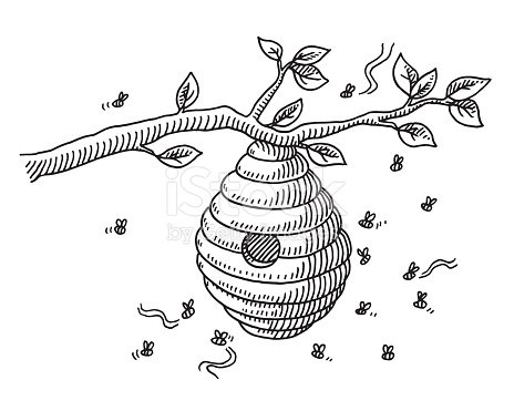 Bee Hive Drawing At Getdrawings Com Free For Personal Use Bee Hive