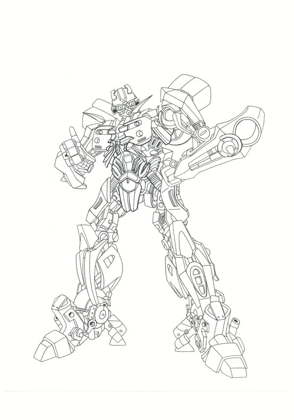 600x857 Bumblebee Lineart By Legend Of Blackout