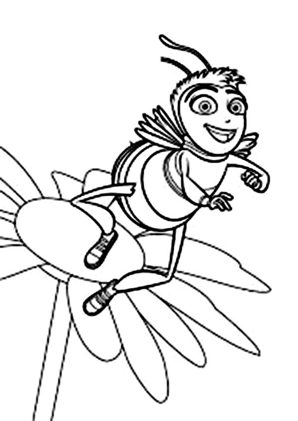Bee On Flower Drawing