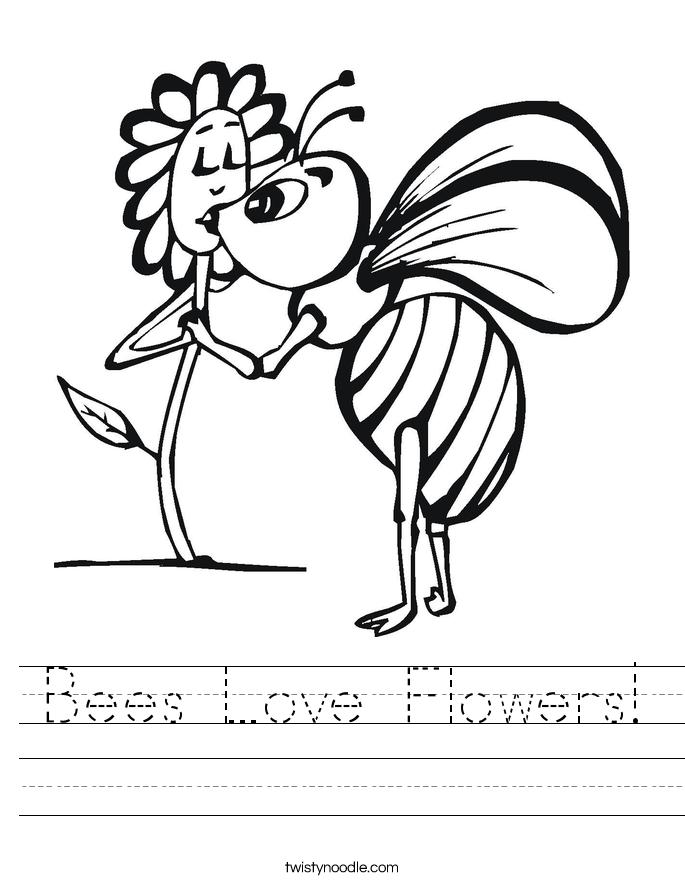 685x886 Bees Love Flowers Worksheet