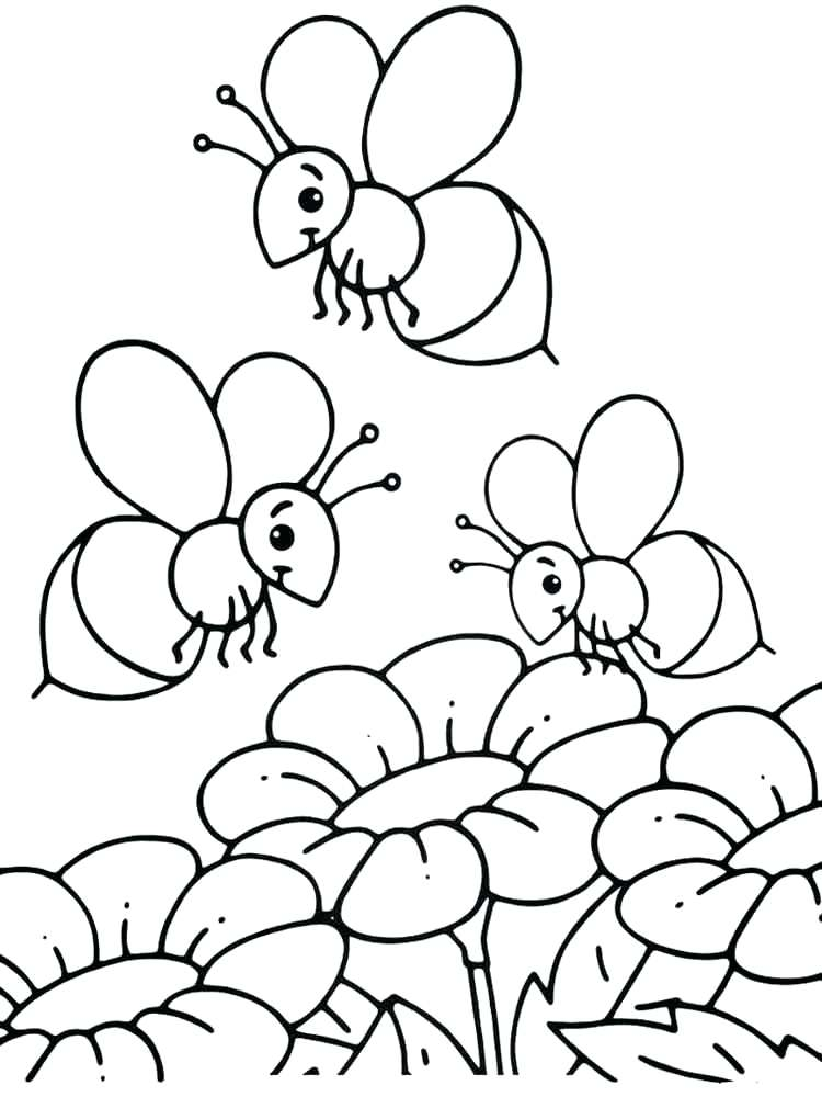 750x1000 Bee Coloring Pages To Print Beehive Is House Of Bees Page Best